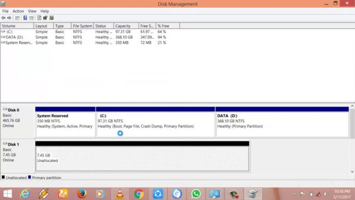 how to allocate the unallocated space in disk space