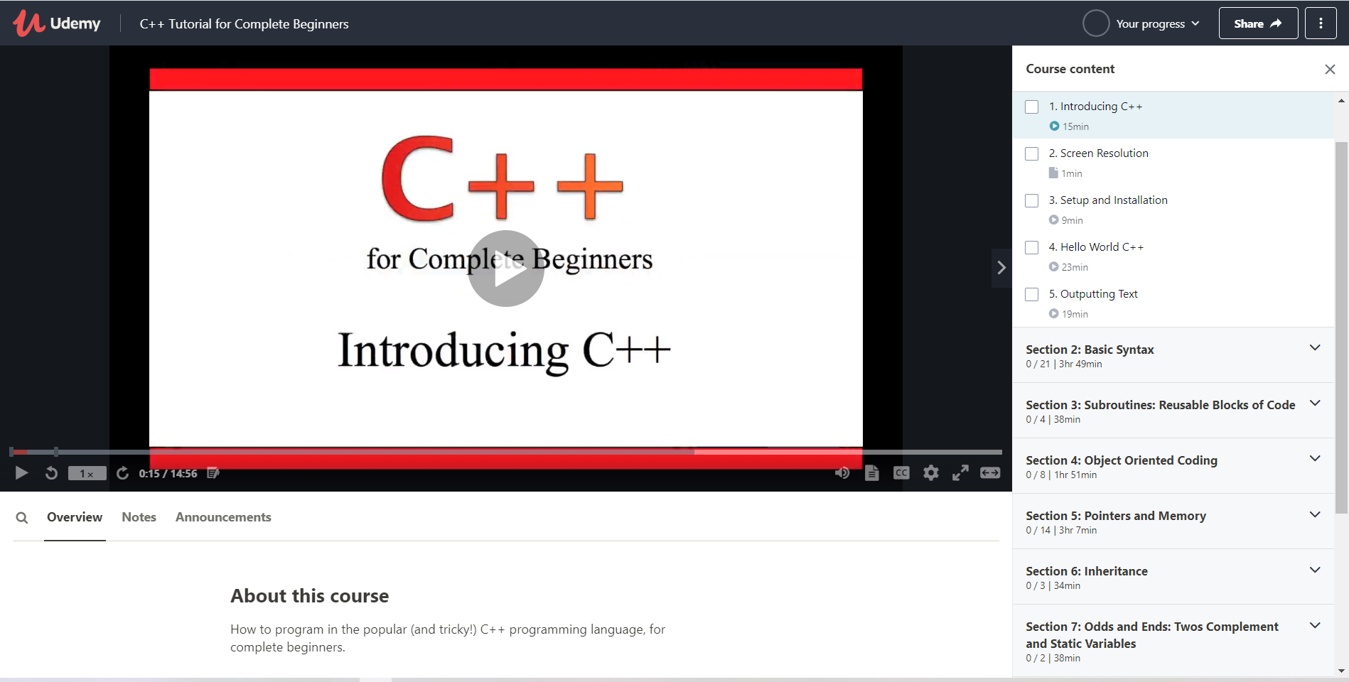C++ for beginers